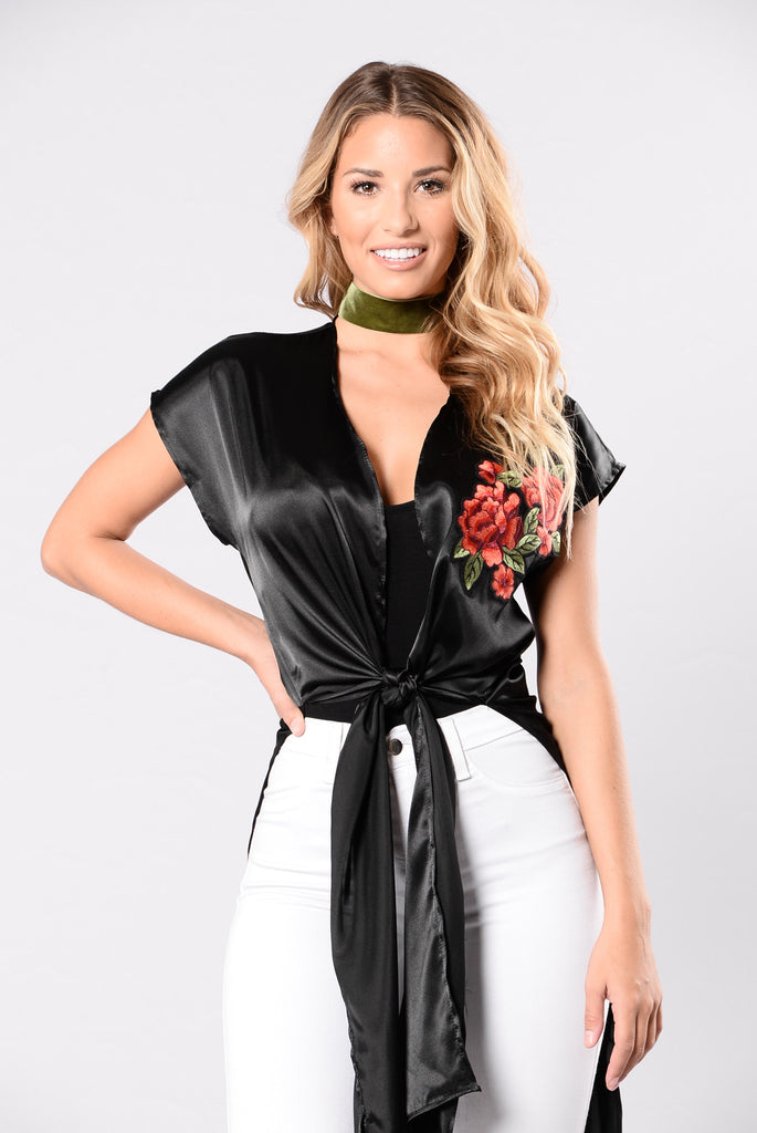 Everything Is Rosy Top - Black