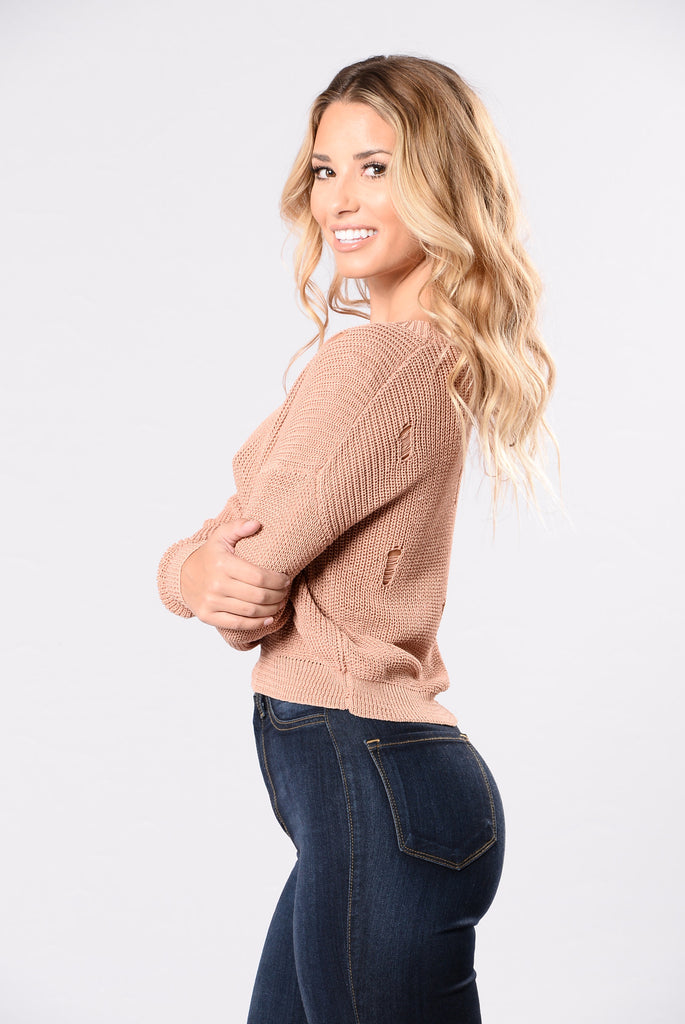 All Day Dancing Sweater - Mauve