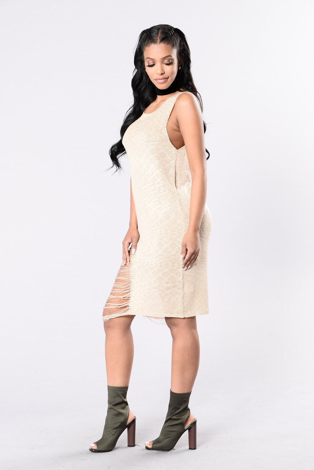 So Much Love To Give Dress - Taupe