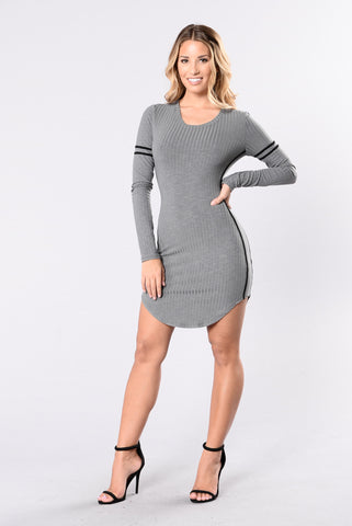 Tag Team Dress - Charcoal
