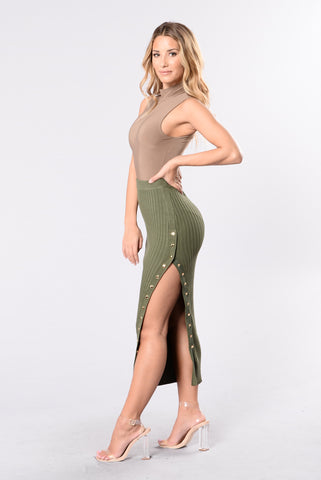 Do It Right Skirt - Olive