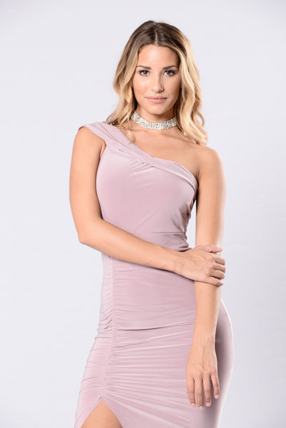 Cuffing Season Dress - Mauve