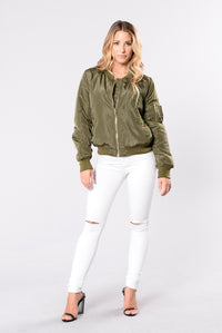 Notorious Jacket - Olive Angle 6