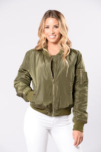 Notorious Jacket - Olive Angle 4