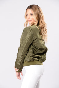 Notorious Jacket - Olive Angle 3