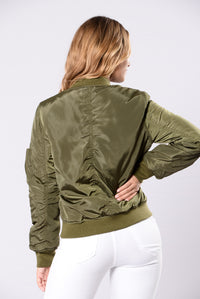 Notorious Jacket - Olive Angle 2