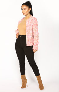 Classy And Fabulous Jacket - Pink