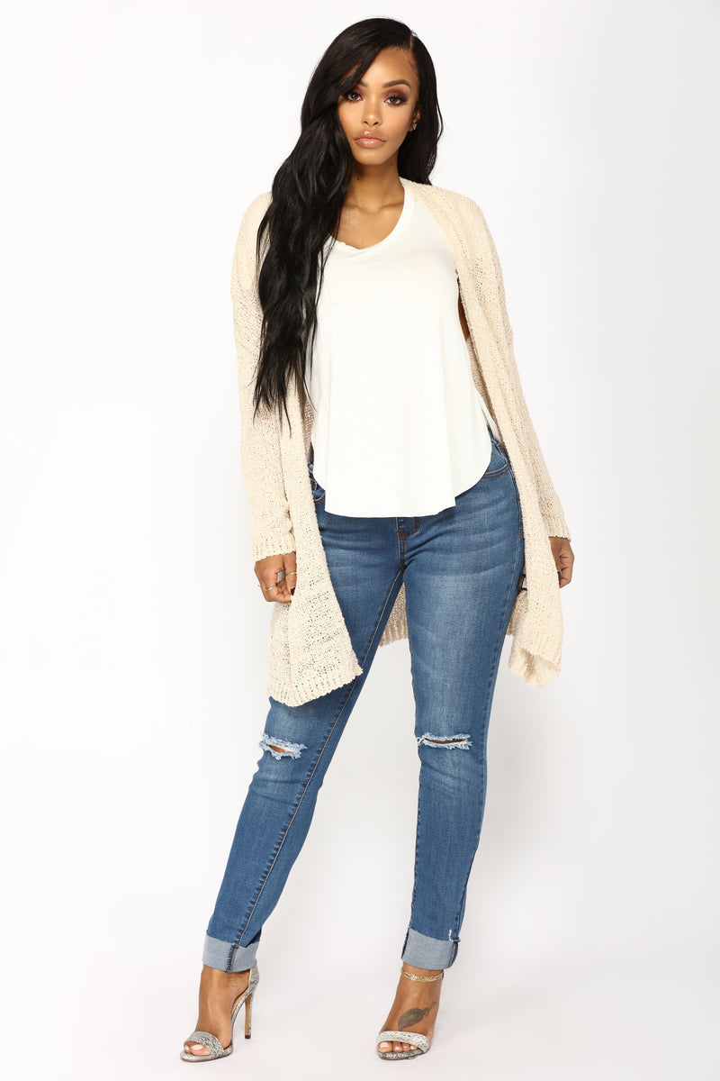 Reese Light Weight Cardigan - Beige