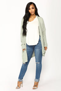 Reese Light Weight Cardigan - Sage