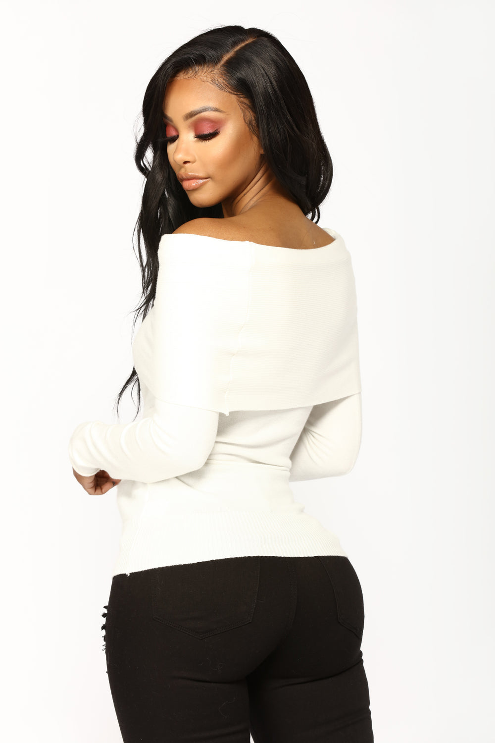 Dusting You Off The Shoulder Sweater - Ivory