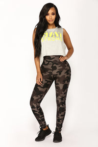 Ranking Active Leggings - Black Camo