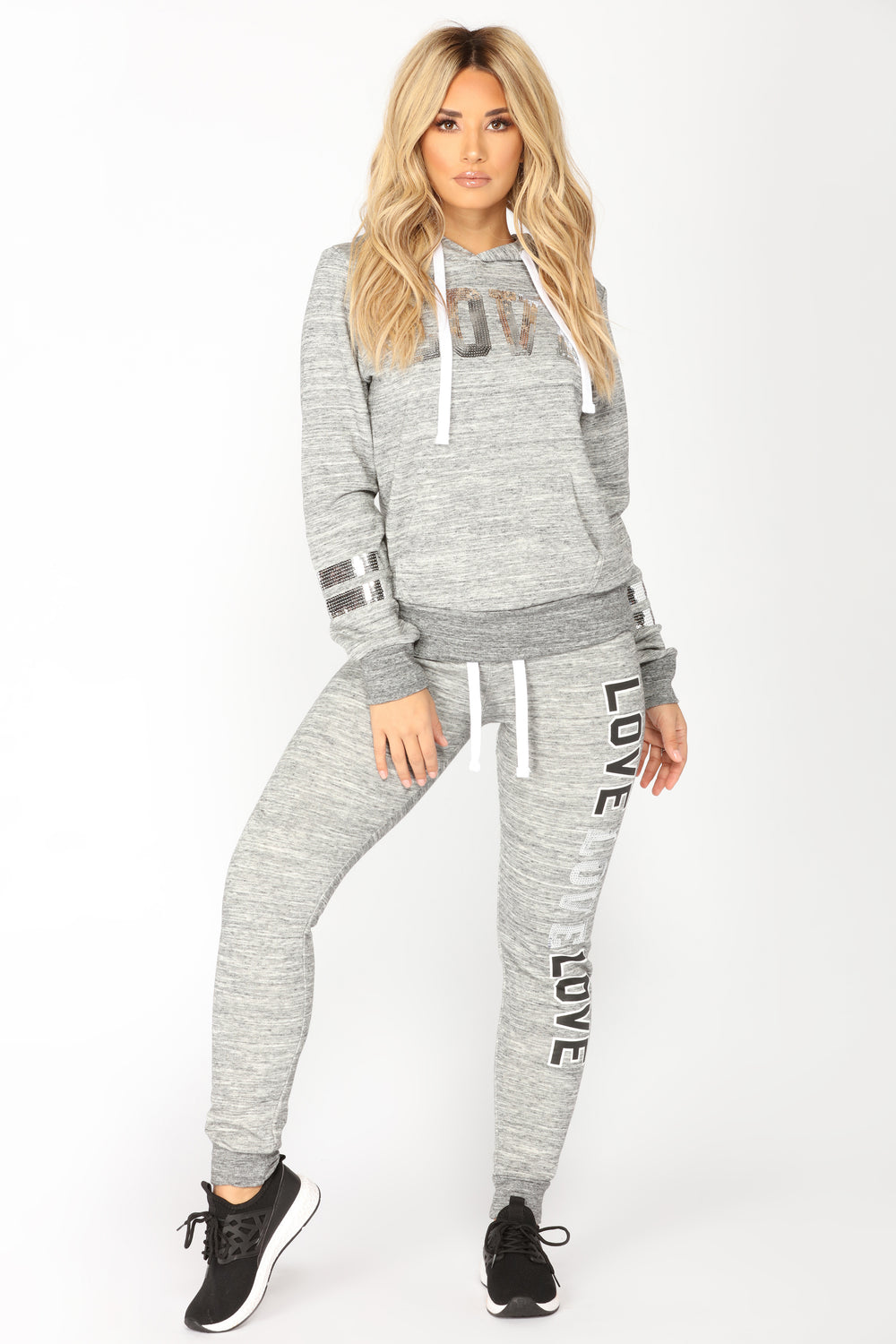 Dreamlover Lounge Joggers - Marled Charcoal