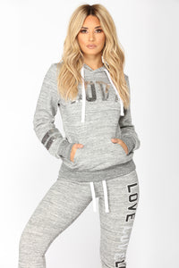 Dreamlover Lounge Hoodie - Marled Charcoal