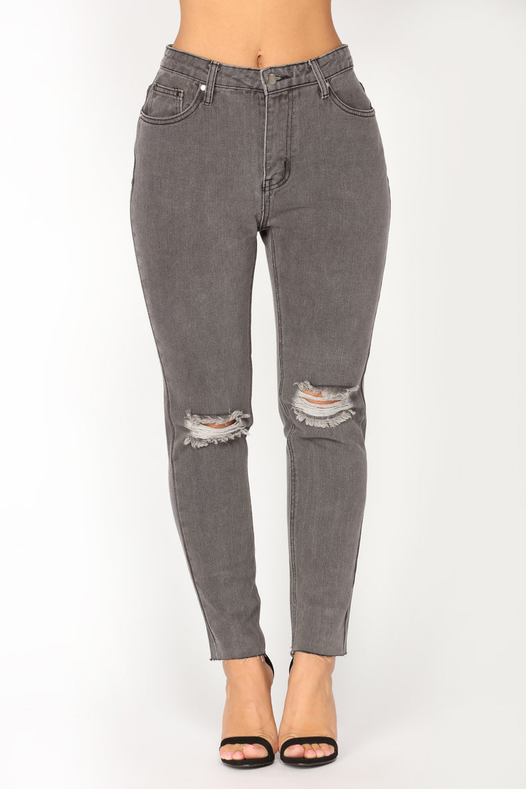 Truth Or Dare Boyfriend Jeans - Grey