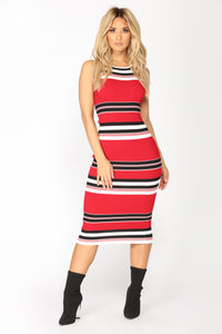 Synia Midi Dress - Red