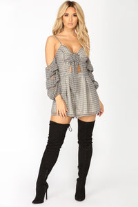 Knot Together Romper - Black