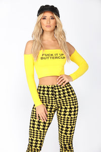 Hey Butter Cup Off Shoulder Top - Yellow