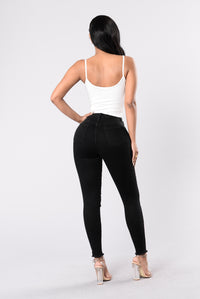 In Distress Jeans - Black