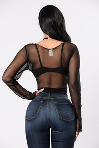 See Thru You Top - Black