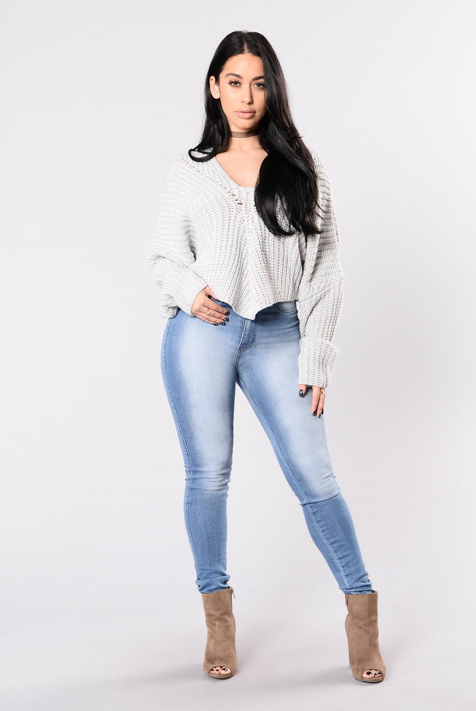 Style Watch Sweater - Light Grey