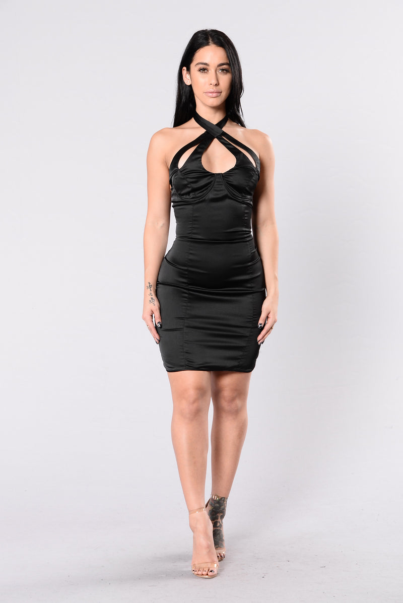 Beg For More Dress - Black