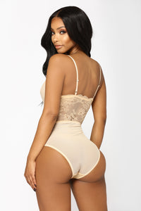Natural Seduction Mesh Teddy - Nude