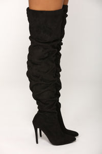 Aye Bae Over The Knee Boot - Black