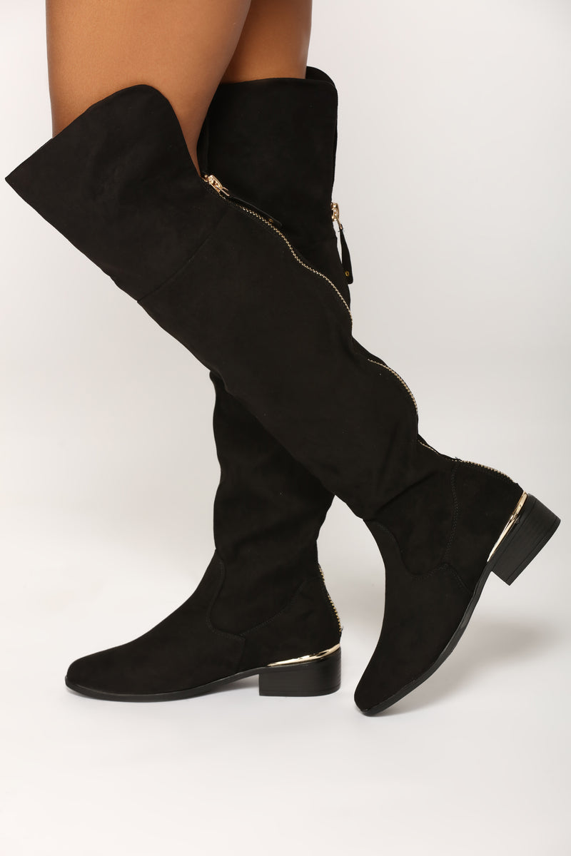 Adalynn Over The Knee Boot - Black