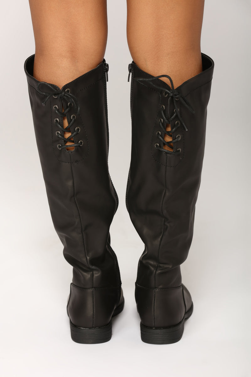 Montana Knee High Boot - Black