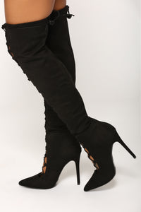 Janet Lace Up Boot - Black