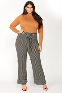 Jaqueline Striped Pants - Black/White