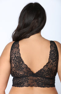 Racey Lacey Bralette - Black