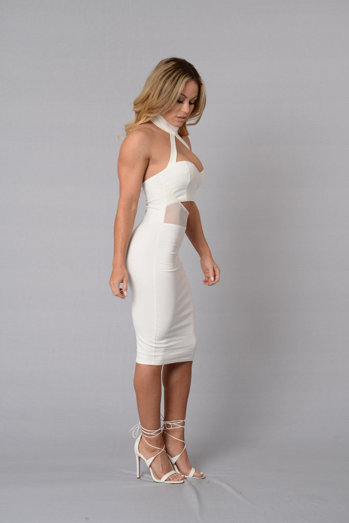 Modesty Dress - White
