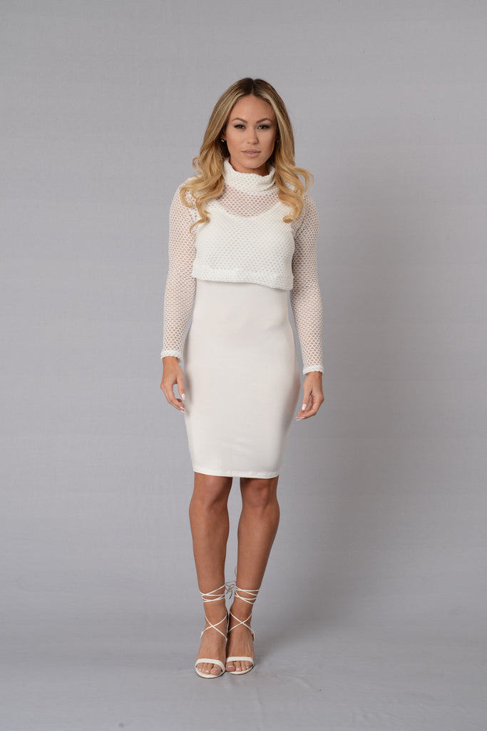 Partner in Crime Dress - White