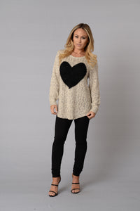 Warm and Fuzzy Love Sweater Angle 1