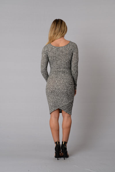 Lineup Dress - Salt & Pepper