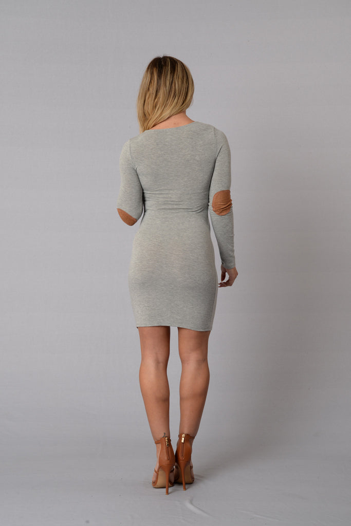 Patch Things Up Dress - Grey