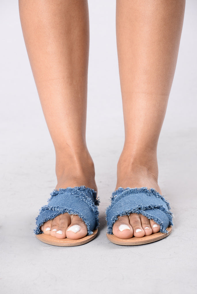 Keep You In Mind Sliders - Denim