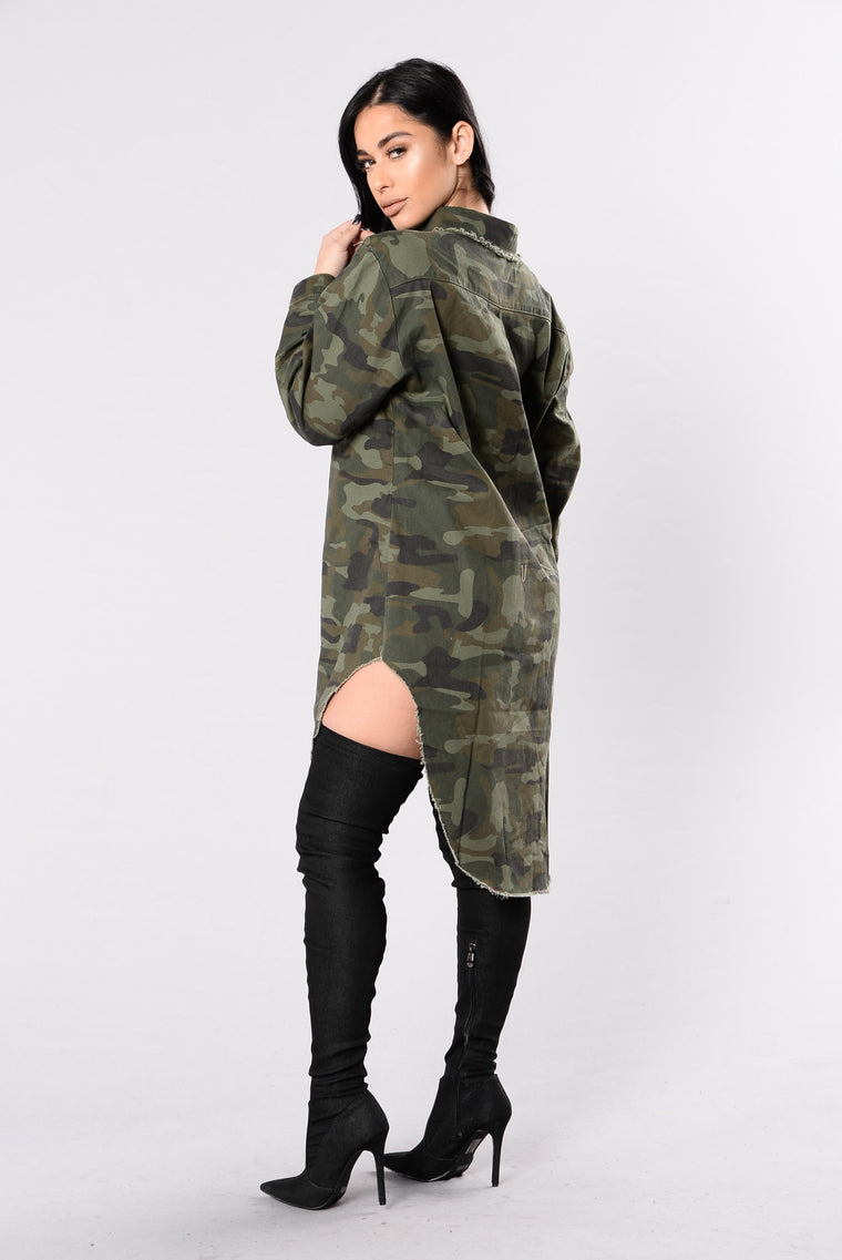 Denim Haze Tunic - Camo