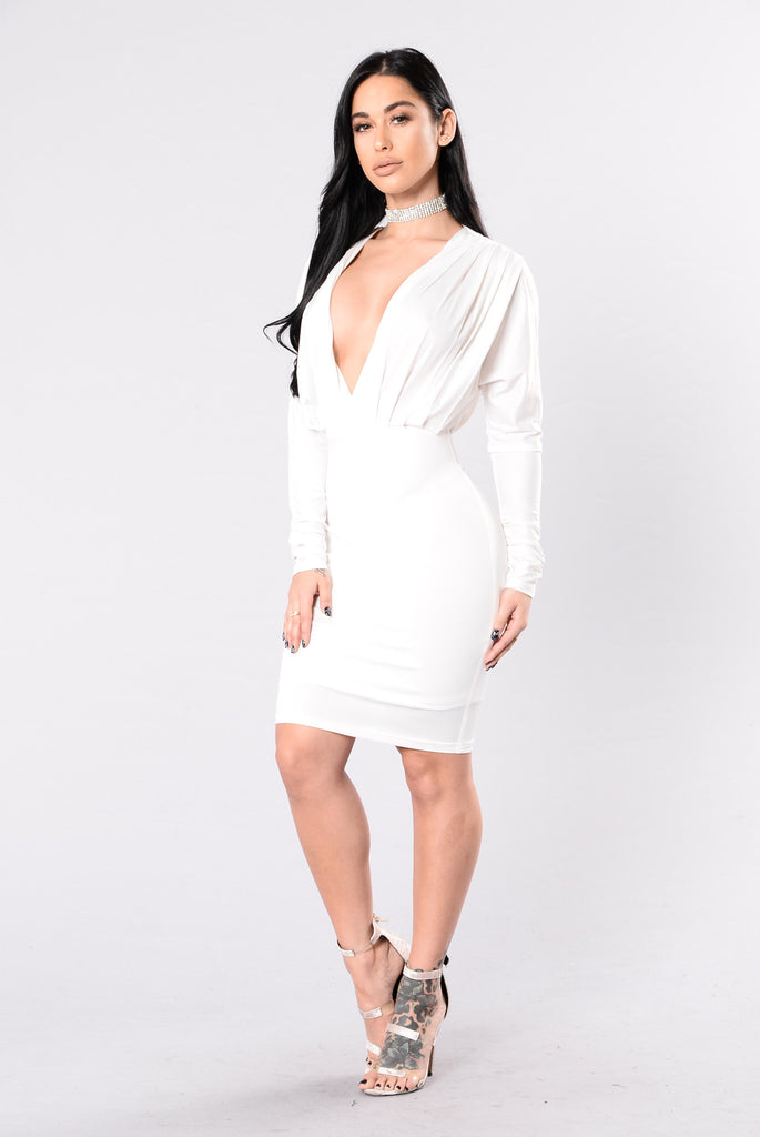 Secret Place Dress - White