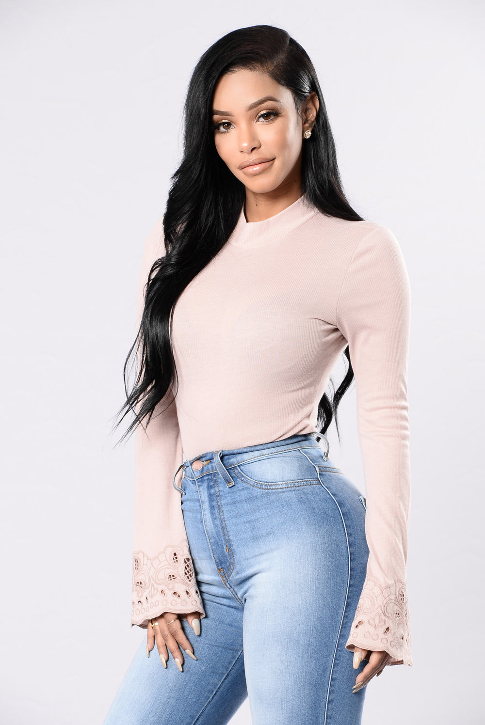 American Hearts Bodysuit - Blush