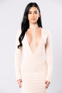 Night Dreamer Dress - Nude