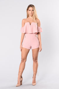 Must Be A Good Reason Romper - Blush