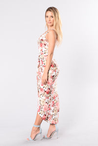 Go With the Floral Dress - Ivory/Pink