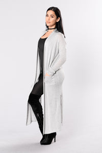 Stay Cozy Cardigan - Heather Grey