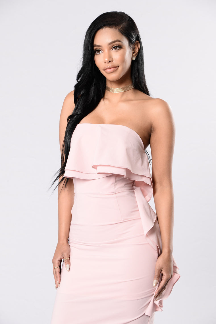 Still Falling For You Dress - Mauve