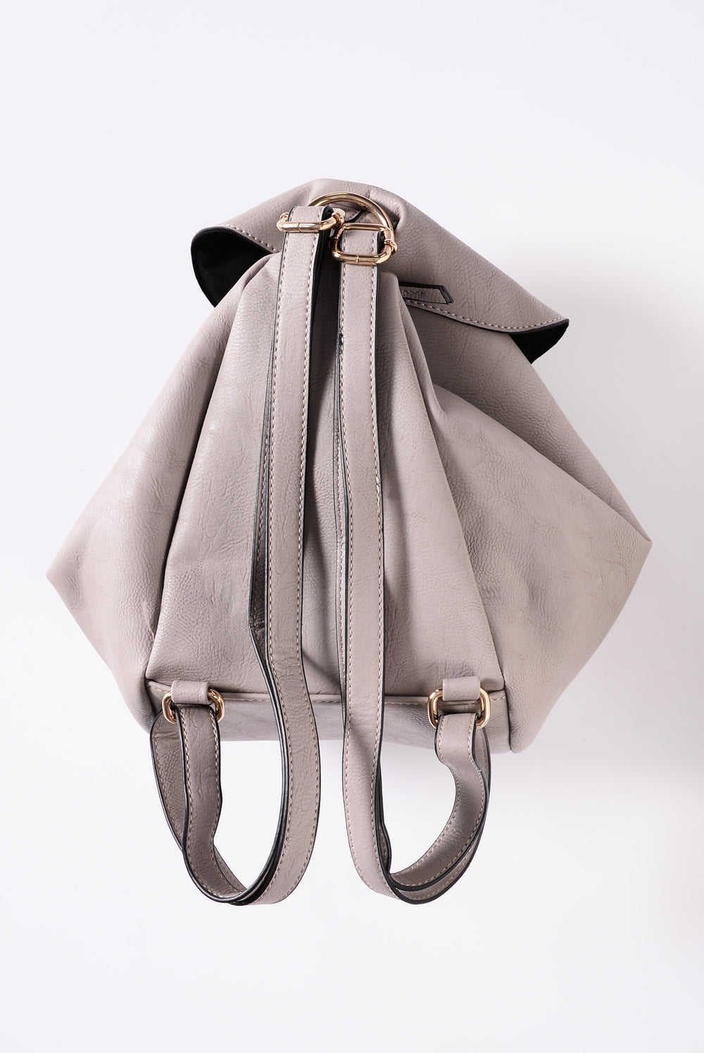 Elektra Faux Leather Backpack  - Grey
