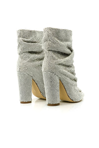 Strut Your Stuff Rhinestone Booties - Silver