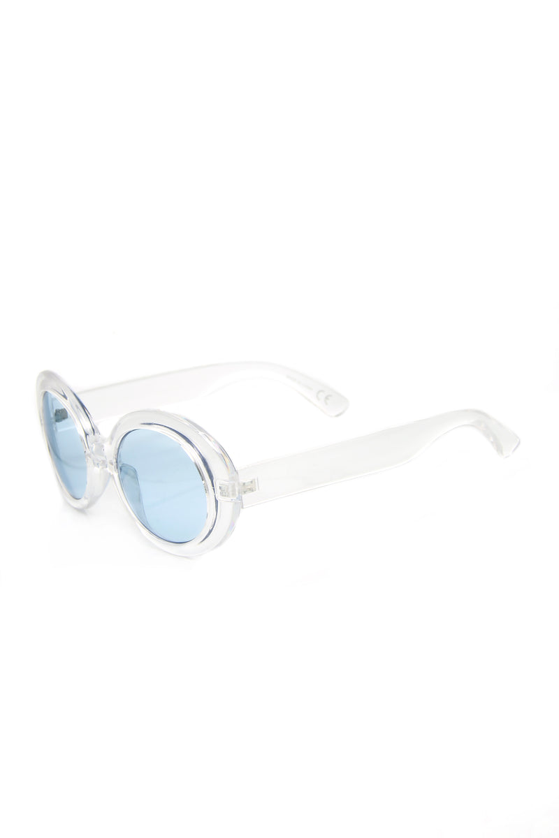 Citara Sunglasses - Silver/Blue