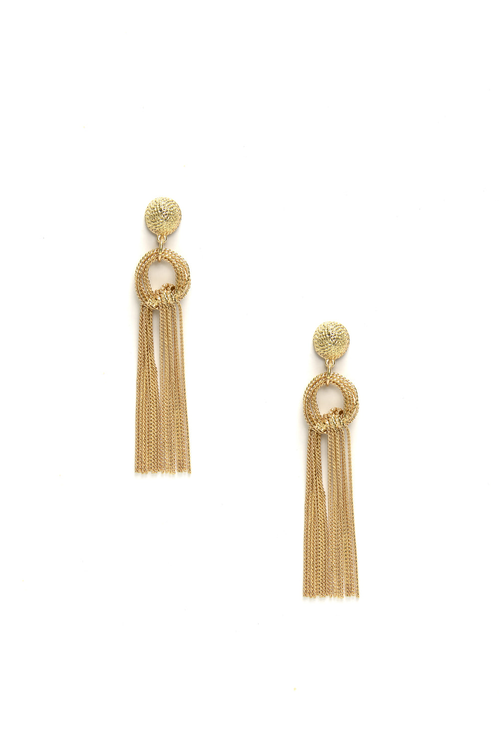 Finest Hour Fringe Earrings - Gold